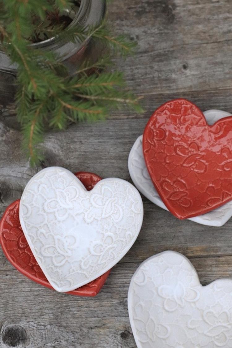Hjärtskål - mönstrad