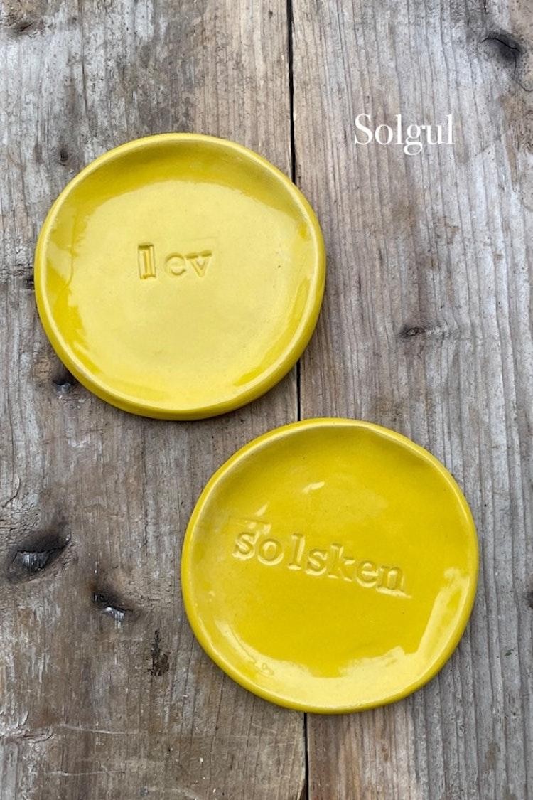 Budskapsfat - gula nyanser