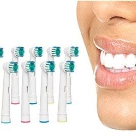 Tandborsthuvuden - Upp till 62 % rabatt - Välj mellan 8, 16 eller 24-pack till riktigt bra pris!