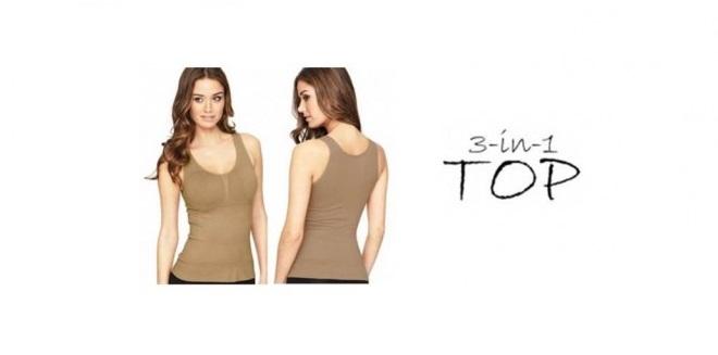 Ett mjukt och följsamt plagg med tre funktioner: BH - Linne - Shapewear - 60 % rabatt