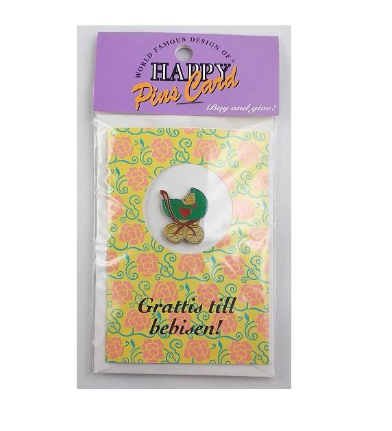 2-pack - Pins- Grattis kort - Olika motiv och trevliga hälsningar! - 60 % rabatt