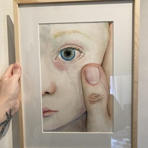 Torka din kind - originalmålning