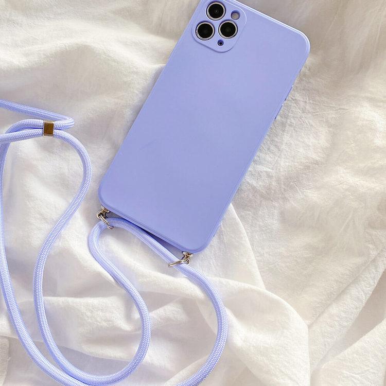 iPhone 7 silikon skal Anti-chock Mjukt TPU Lila