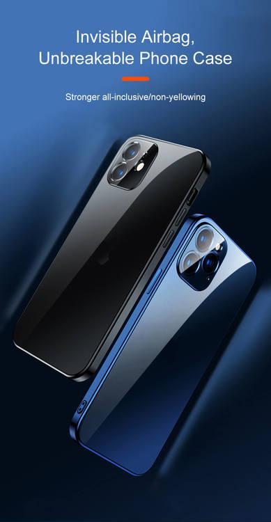 Lyxdesigner blå transparent mobilskal för iPhone 12,12Pro,12Pro MAX