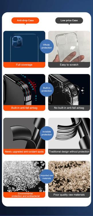 Lyxdesigner svart transparent mobilskal för iPhone 12,12Pro,12Pro MAX