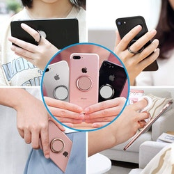 Mobiltelefonhållare metall Mini 360- Svart, Silver, Guld, Rosaguld