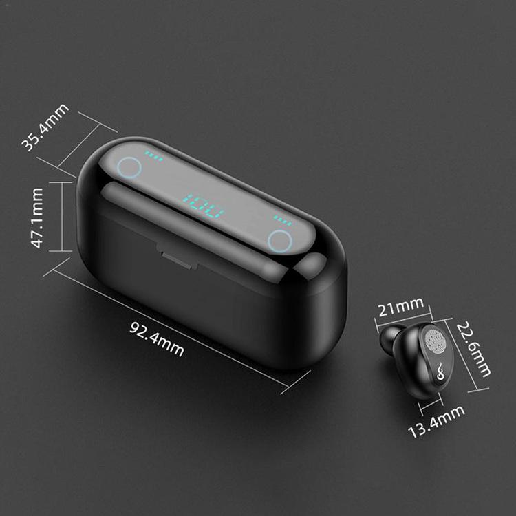 Bästa trådlösa hörlurar TWS hörlurar Bluetooth-hörlurar LED-skärm Sport TWS öronsnäckor