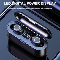Äkta trådlösa TWS hörlurar Bluetooth-hörlurar LED-skärm Sport TWS öronsnäckor