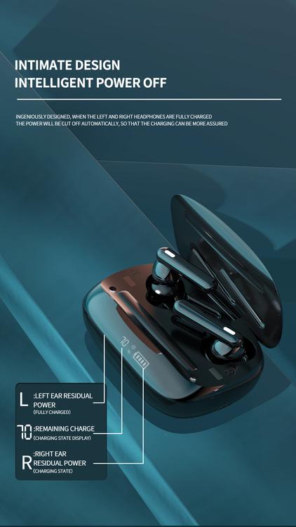 Bästa trådlösa hörlurar öronsnäckor svettbeständiga Bluetooth-hörlurar för löpning-för iPhone