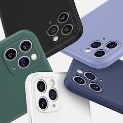 Mobilskal iPhone 11 2020 Nytt fyrkantigt mjukt mikrofiber skal till iPhone silikon TPU- High Quality
