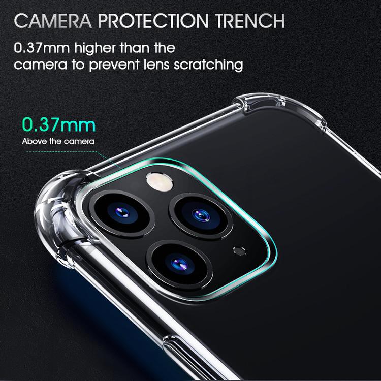 Transparent TPU 1,5 mm fodral av hög kvalitet för iPhone 6, 7, 8, X, 11