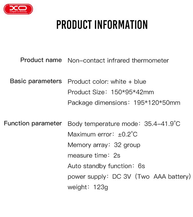 Icke Kontakta Infraröd Termometer Digital