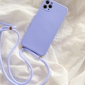 iPhone 11silikon skal Anti-chock Mjukt TPU Lila