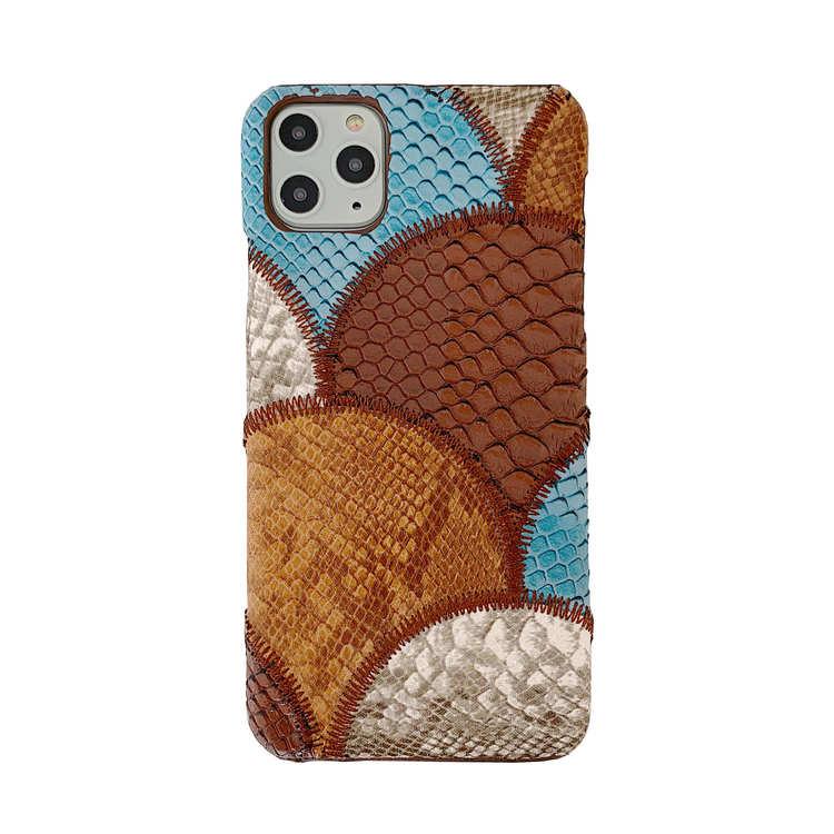 iPhone 11 blandade färger Snakeskin PU-läderfodral