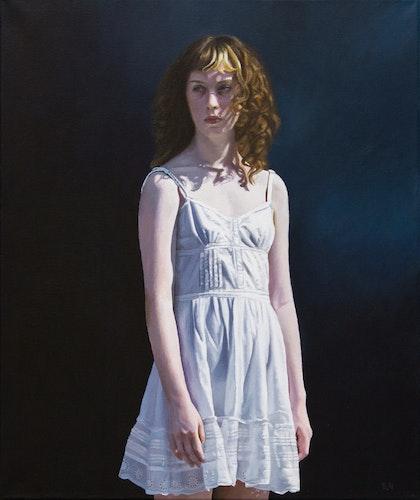 """""""Girl -Blue"""" - originalmålning"""