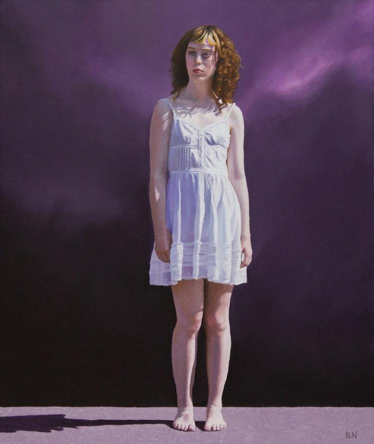 """Girl - Purple"" - originalmålning"