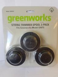 Greenworks trimmer spole 3-pack artnr: 2926307