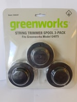 Greenworks trimmer spole 3-pack artnr: 2926307