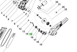 Ryobi Stångsåg RPP182025 Skruvlock