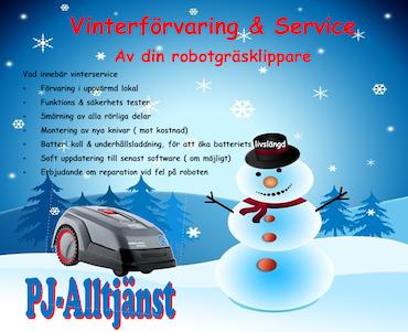 Vinterförvaring                Hämtning/utsättning
