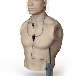 Halsslynge for 2-veis trådløs kommunikasjon
