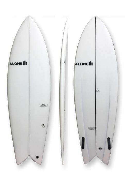 """Alone Surfboards Twinny 5'10"""" PU"""