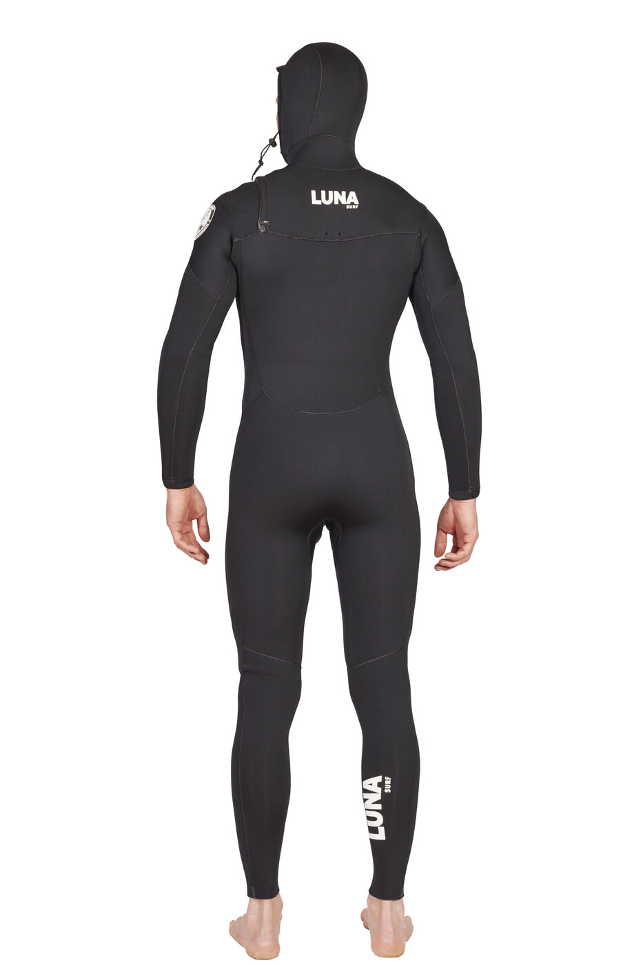 Lunasurf Mens 5.4mm Hooded Slant Zip Yamamoto Wetsuit