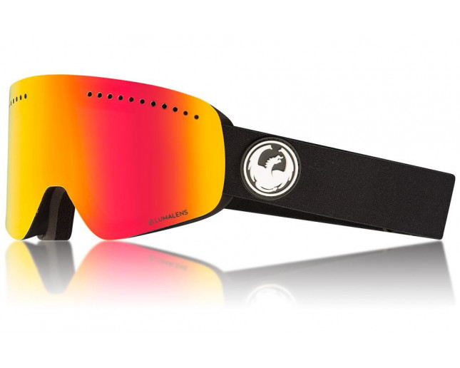 NFX DRAGON Black with Lumalens Red Ionized & Lumalens Rose Lens