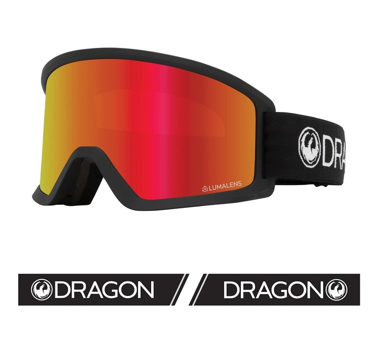 DX3 OTG DRAGON Black with Lumalens Red Ionized Lens