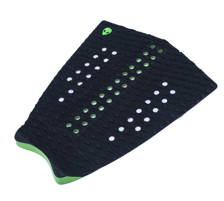 LUNASURF SUP / Longboard Tail Pad Black Green