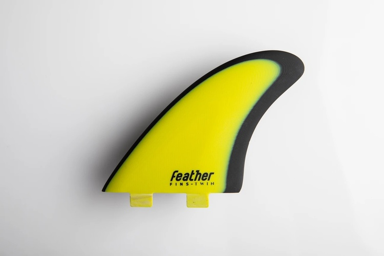 Featherfins MODERN KEEL YELLOW FCS-1 Double Tab systems