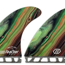 Featherfins PERFORMANCE TWIN FIN COLOR Future Single Tab systems