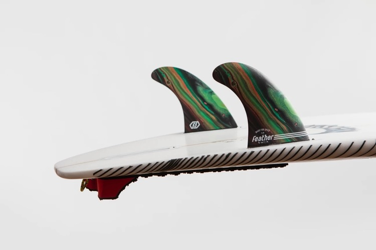 Featherfins PERFORMANCE TWIN FIN COLOR FCS-1 Double Tab systems