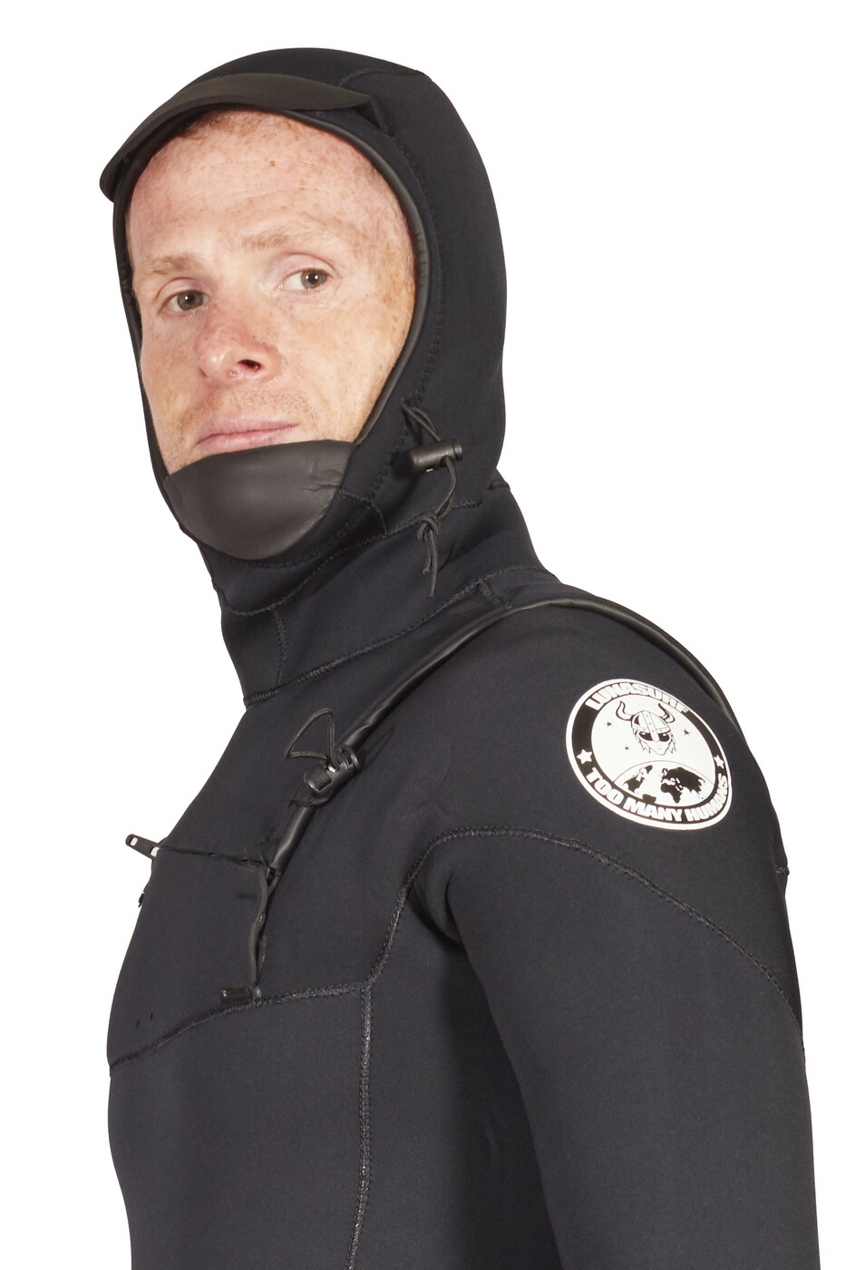 Lunasurf Mens All 4mm Hooded Slant Zip Yamamoto Wetsuit