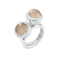 Ring HOLI Small rose quartz