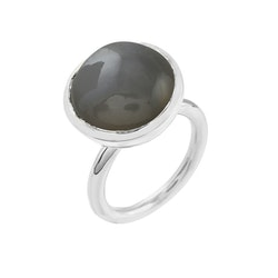 Ring HOLI Big grey moonstone