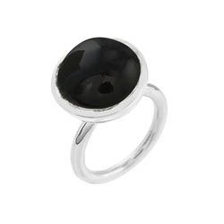 Ring HOLI Big black onyx
