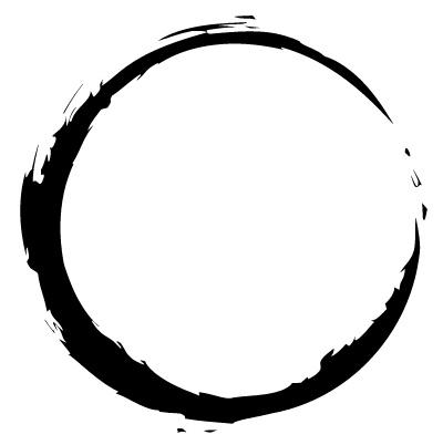 enso cirkel. enso circle