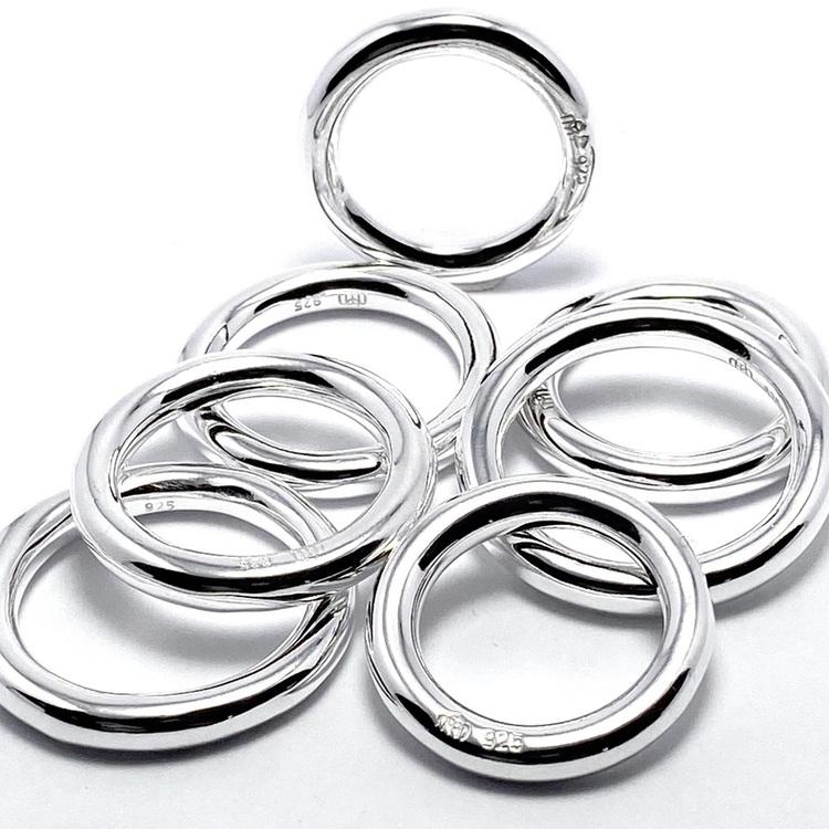 släta enkla silverringar. smooth simple silverrings