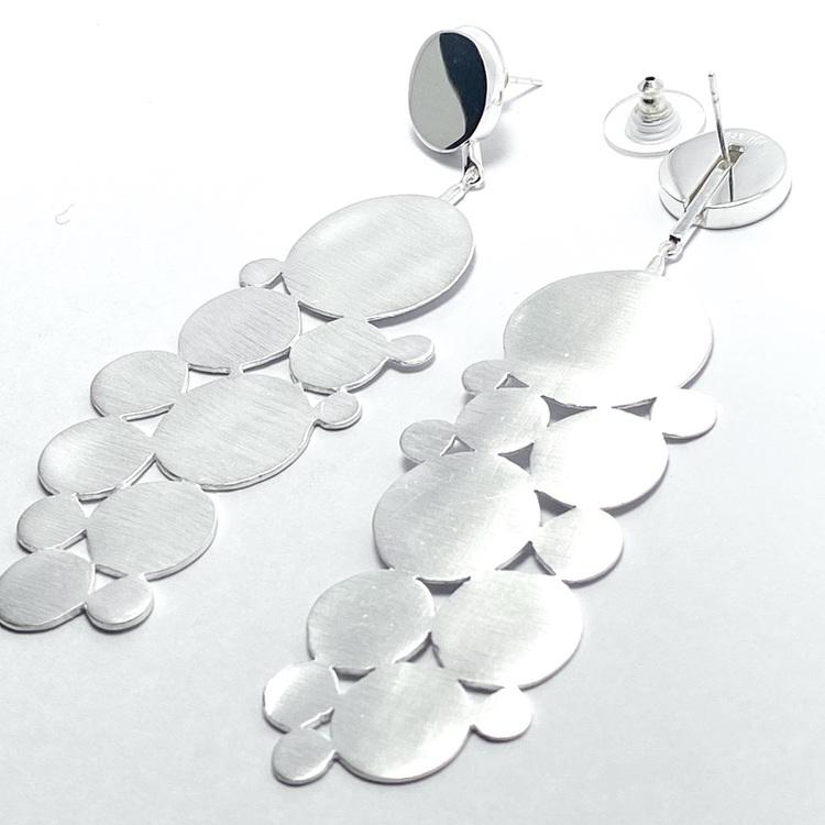 Stora festörhängen i silver, Big party earrings in silver