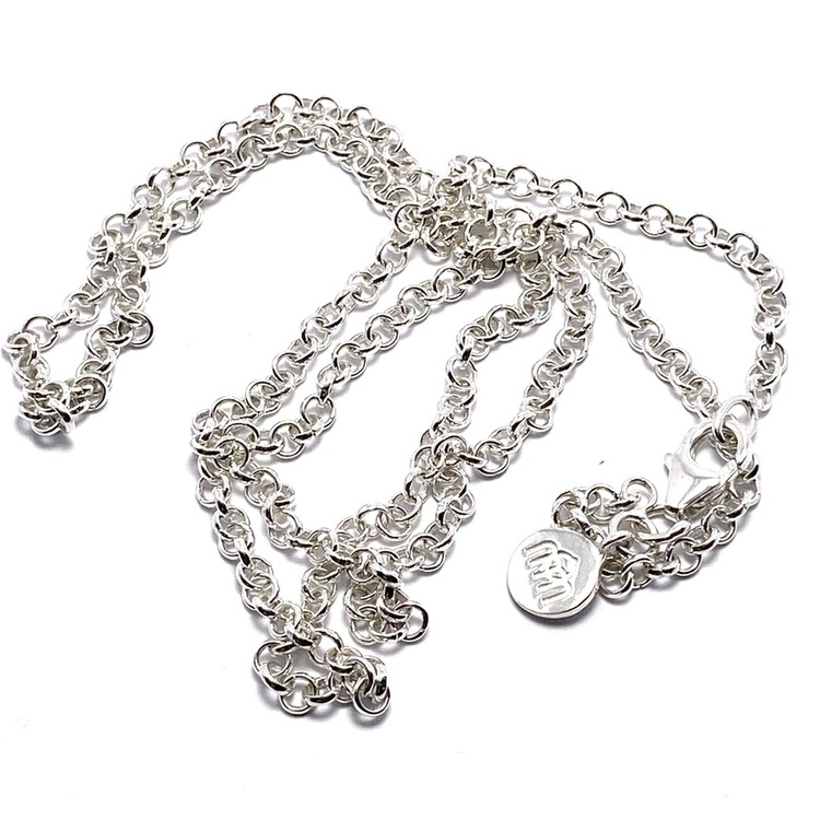 lång silverkedja 60cm. long silver chain 60cm