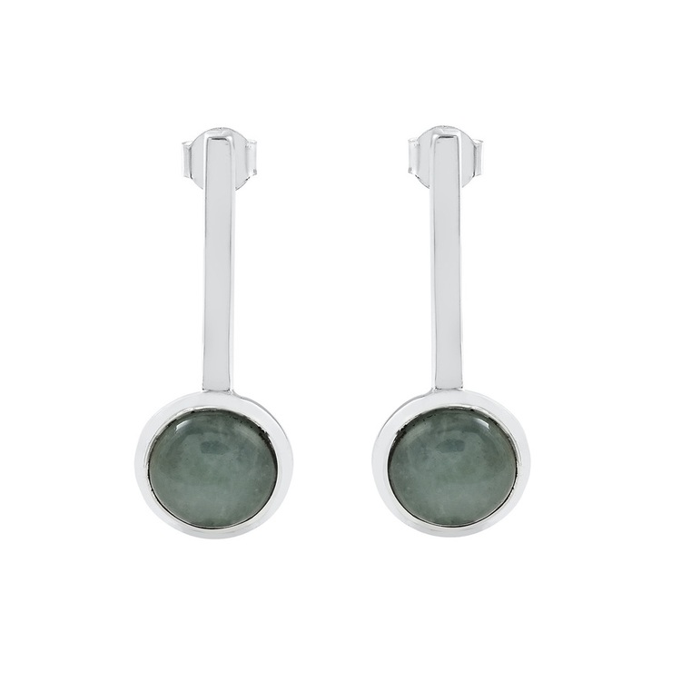 Vackra silverringar med vacker akvamarin. Beautiful silver earrings with aquamarine.
