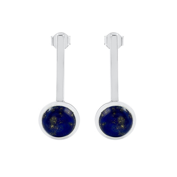 Vackra silverringar med vacker lapis lazuli. Beautiful silver earrings with lapis lazuli.