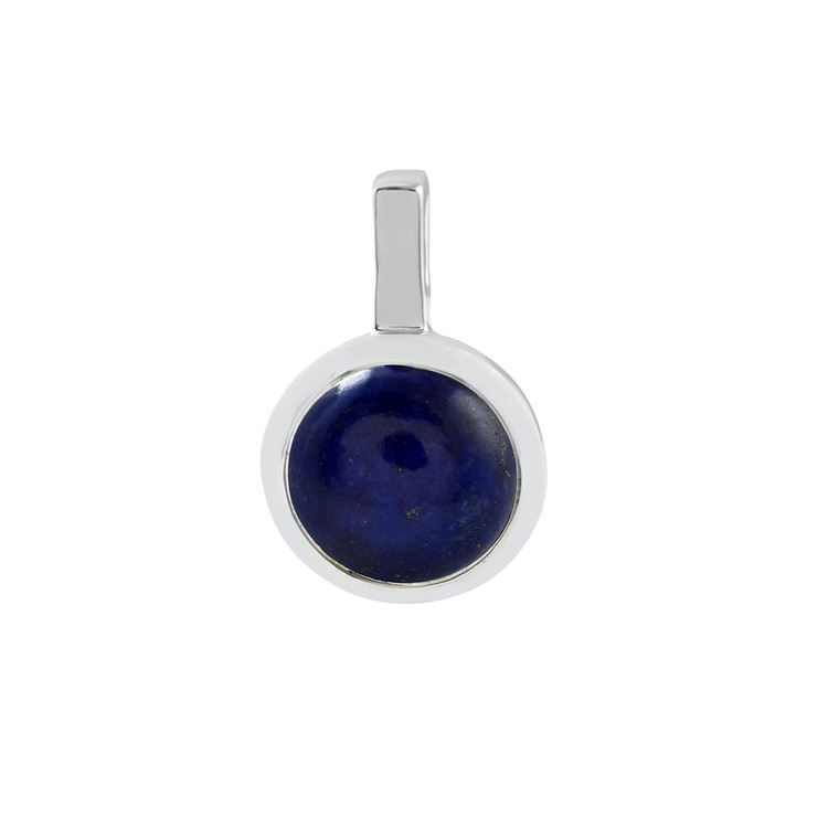 Hängsmycke i silver med lapis lazuli. Silver pendant with lapis lazuli.