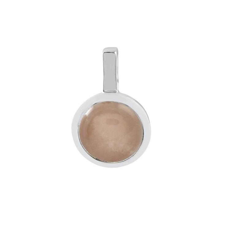 Hängsmycke i silver med rosenkvarts. Silver pendant with rose quartz.