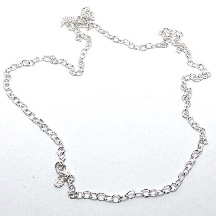 Silverkedja 60 cm. Silver chain 60 cm.