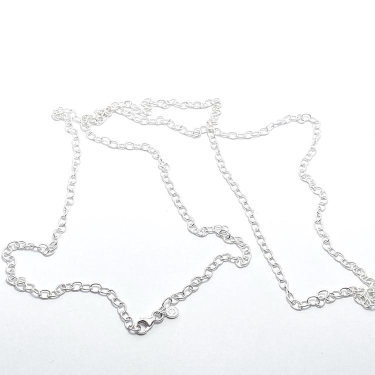 Silverkedja 90 cm. Silver chain 90 cm.