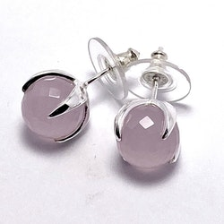 Earring CLAW with Rose Quartz