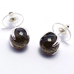 Earrings CLAW with Smokey quartz