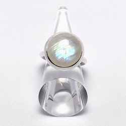 Ring HOLI Big rainbow moonstone